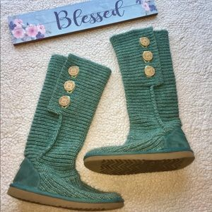 UGG Knit Teal Boots